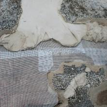 PVC net and temporary reconstructive mortar.