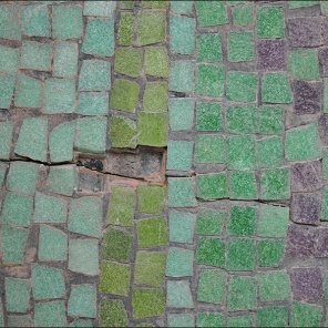 Damaged tiles.