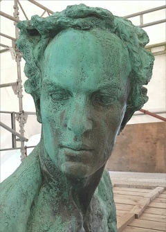 Detail of the sculpture after conservation.
