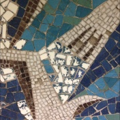 Detail of the mosaic before conservation.