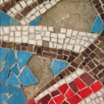 Detail of the mosaic before reconstruction.