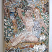 The 'Playing Children' mosaic after conservation.