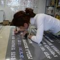 Transferring samples on the foil.